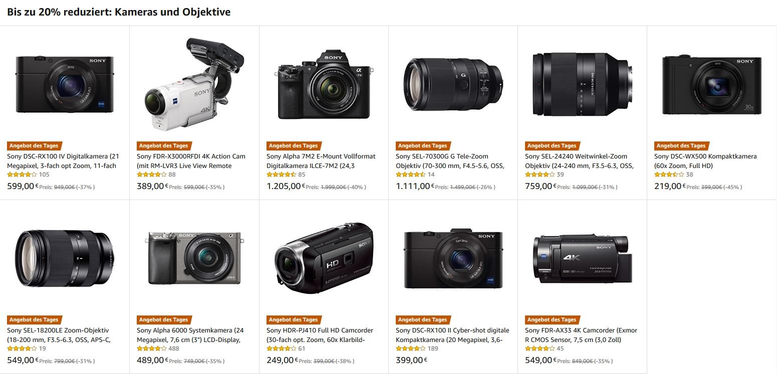 Amazon Herbst Angebote Woche – Sony Objektive und Sony alpha Kameras